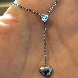 """Stainless Steel Hearts CZ 18-22"""""""